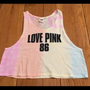 Victoria Secret PINK Tie Dye Muscle Tank Top